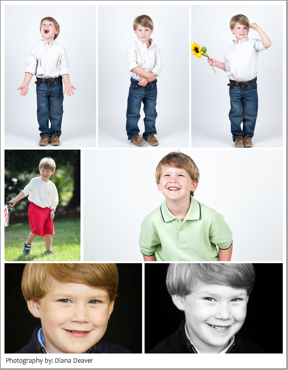 headshot session for child actor portfolio