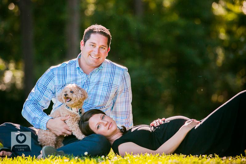 maternity family portrait