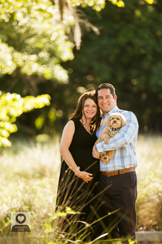 Maternity Family Portrait with Pet