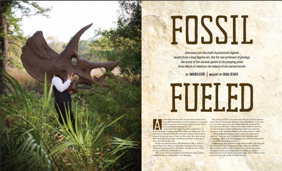 Portrait Archeologist Paleontologist Phil Manning Photographed by Diana Deaver (2