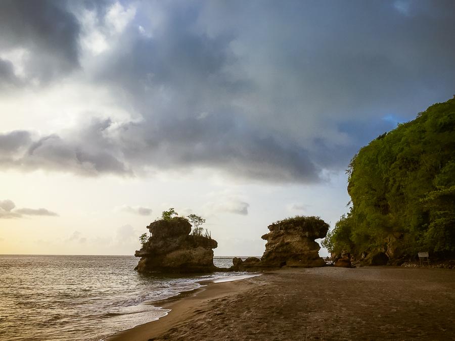 st lucia beaches soufriere anse chastanet dark sand beach