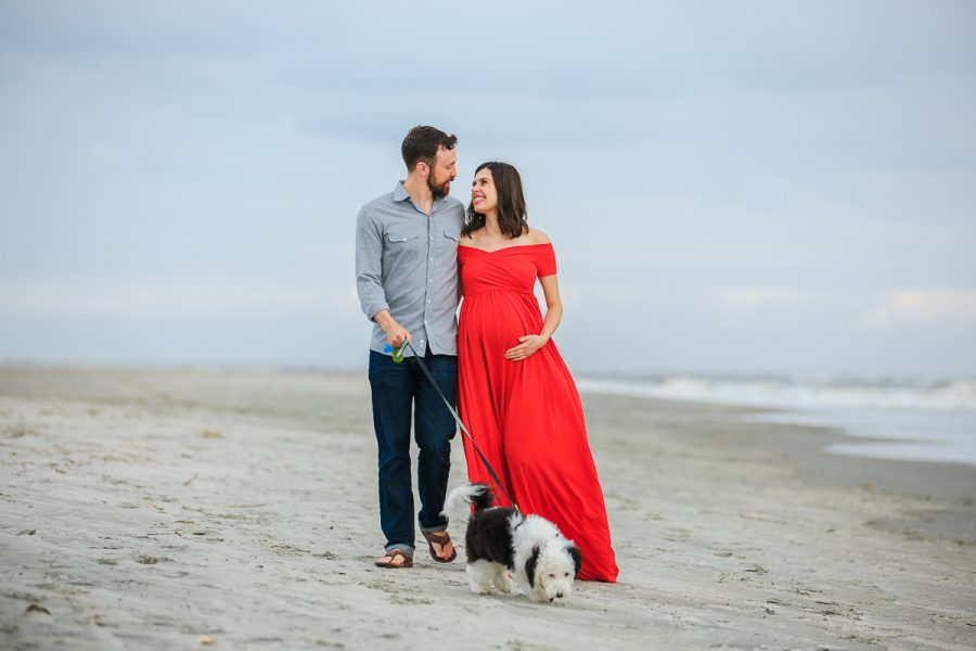 maternity photos at the beach charleston sc